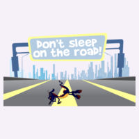 DON'T SLEEP ON THE ROAD Pillow Case Design