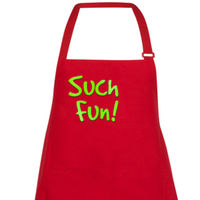 SUCH FUN APRON in 4 Colours Thumbnail